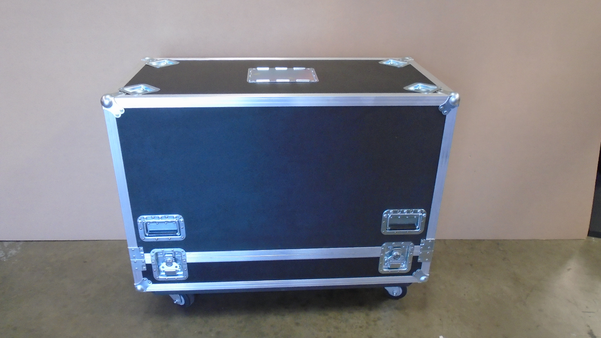 Print # 7674 - Custom Road Case for 2-Pack JBL VTXM22 Professional Stage Monitor Kit By Nelson Case Corp