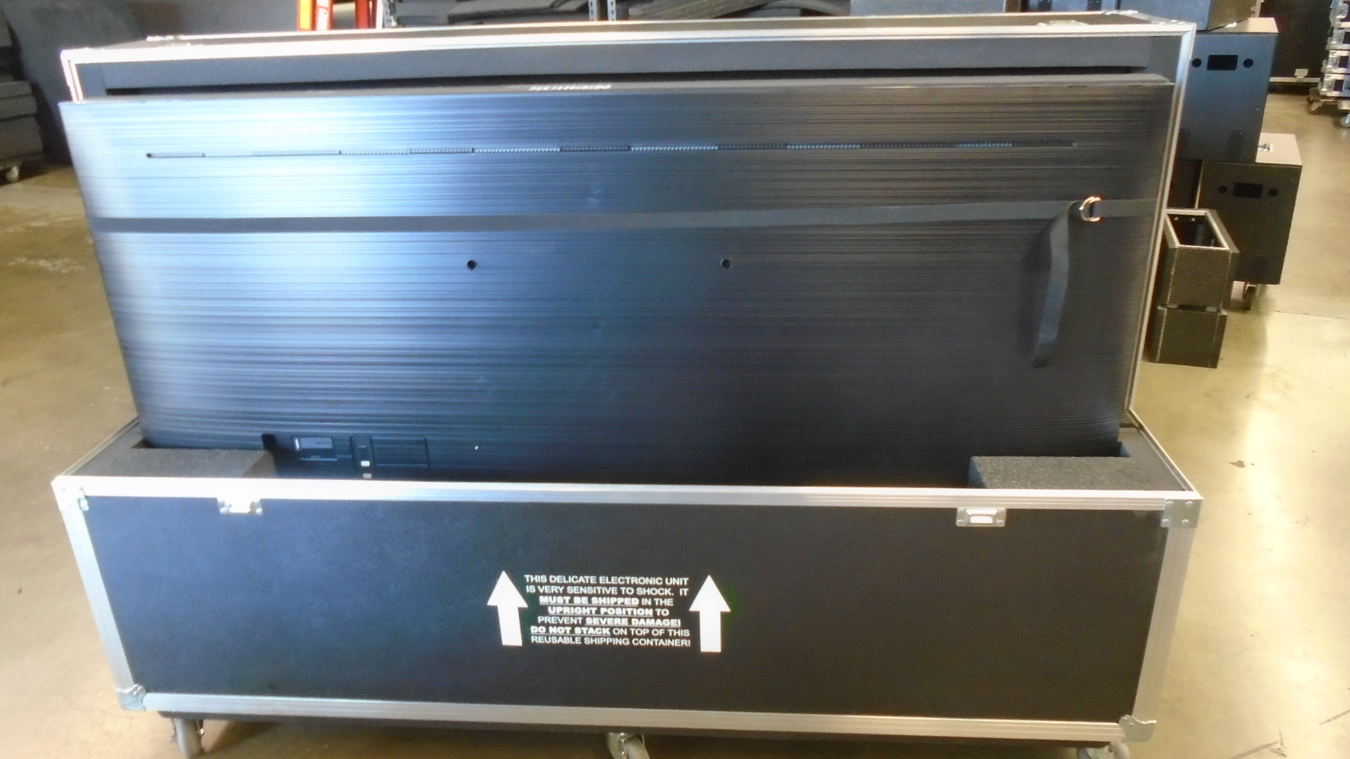 Print # 7744 - Custom Road Case for 2-Pack Samsung UN75NU710DF Monitor Kit By Nelson Case Corp