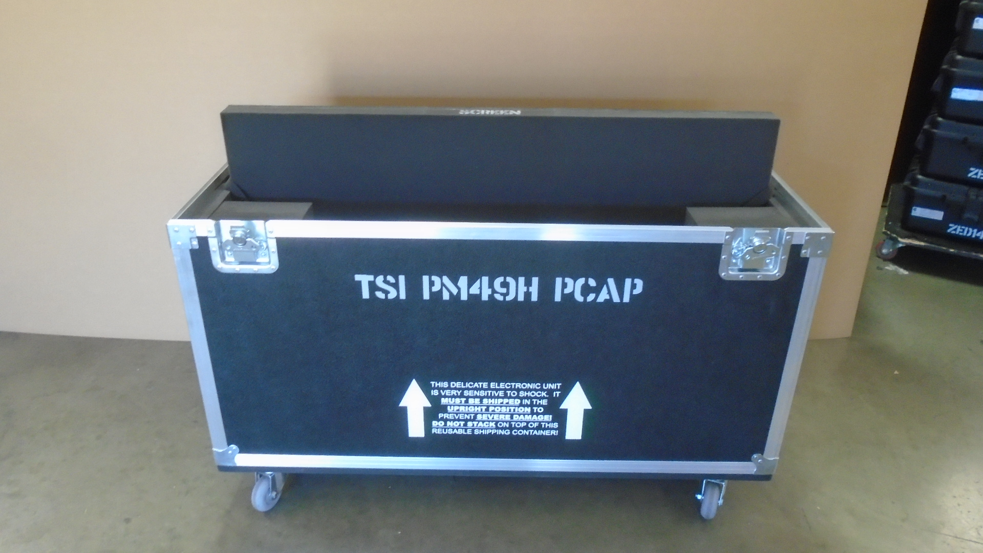 Print # 7789 - Custom Road Case for Samsung PM49H TSI PCAP Monitor Kit By Nelson Case Corp