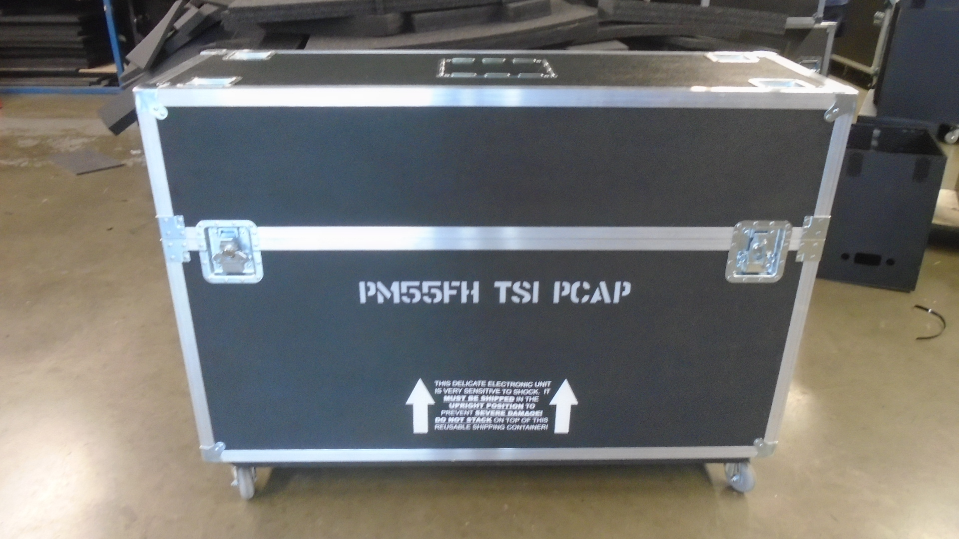 Print # 7802 - Custom Road Case for Samsung PM55FH PCAP Touch Screen Monitor Kit	 By Nelson Case Corp